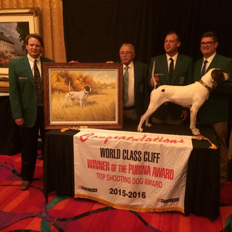 Purina Announces World Class Cliff Top Shooting Dog Award